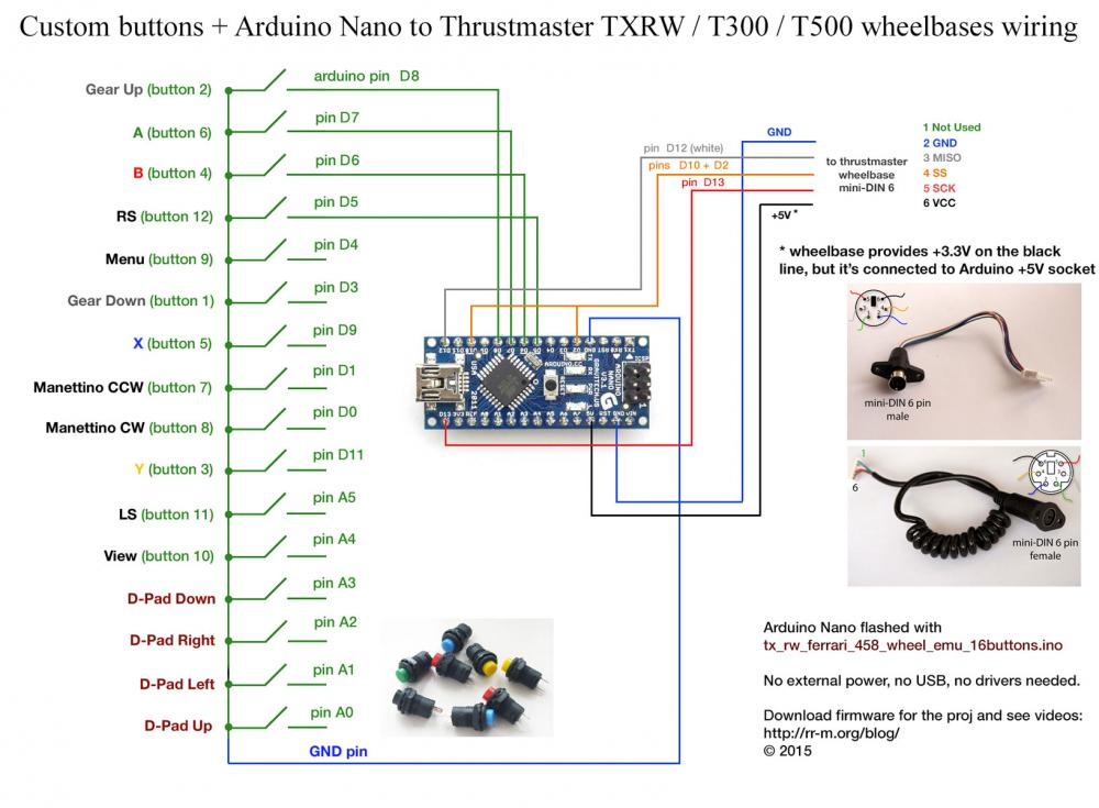 arduino_nano_to_thrustmaster_wheelbase_w