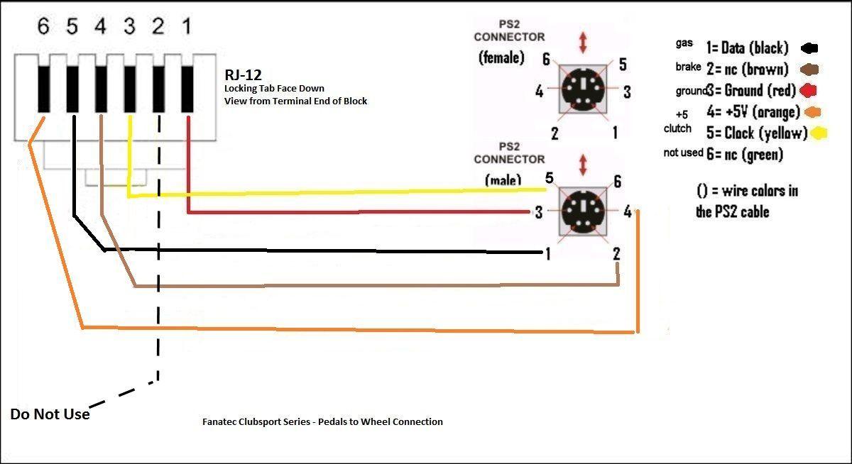 fanatec csr pedals pinout  solved
