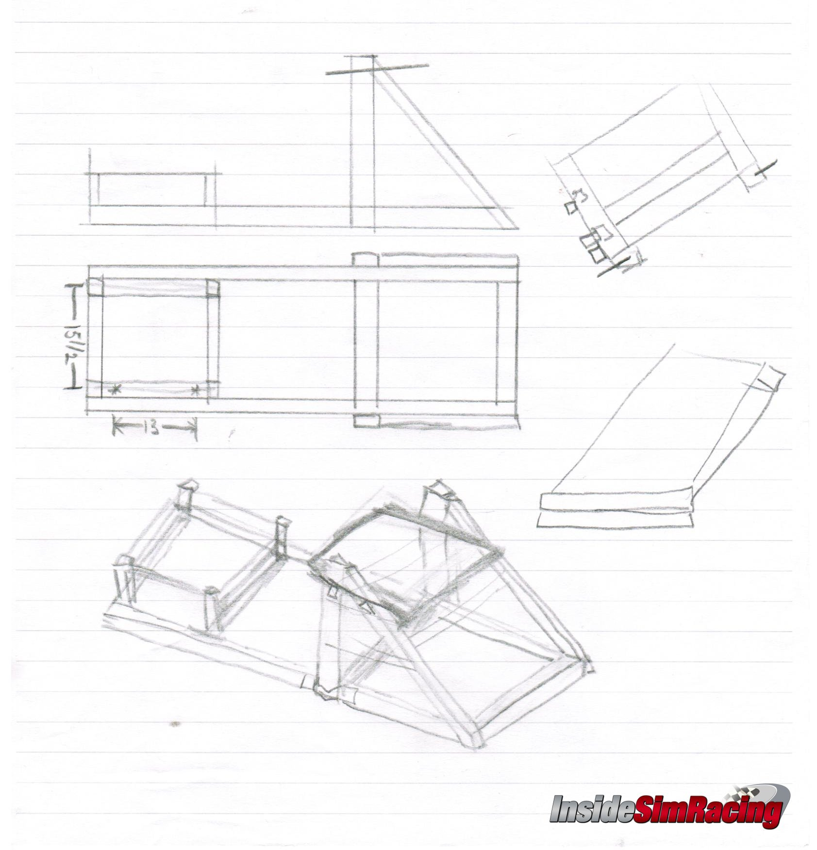Diy pvc sim racing rig plans do it your self for House plan simulator