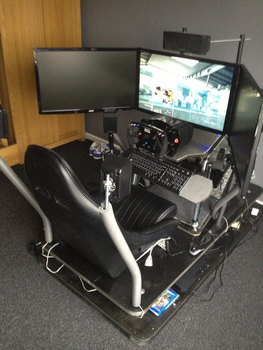 Pvc Rig With Triple Monitor Stand Sim Racing Rigs