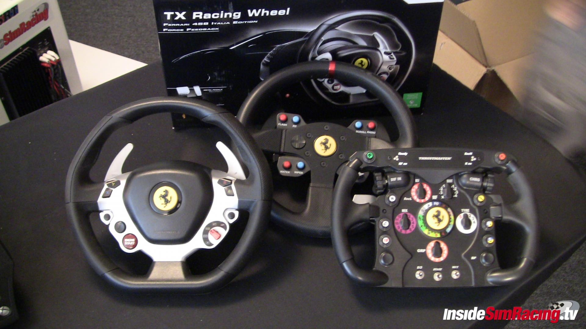 thrustmaster tx racing wheel t3pa pedals first images unboxing vid thrustmaster. Black Bedroom Furniture Sets. Home Design Ideas