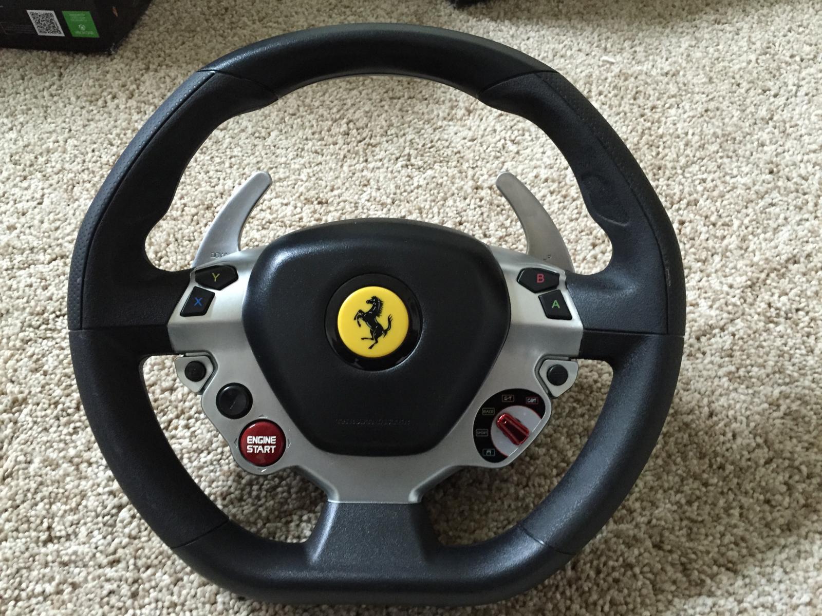 closed thrustmaster tx 458 italia racing wheel gte rim like new usa sim gear buy and. Black Bedroom Furniture Sets. Home Design Ideas
