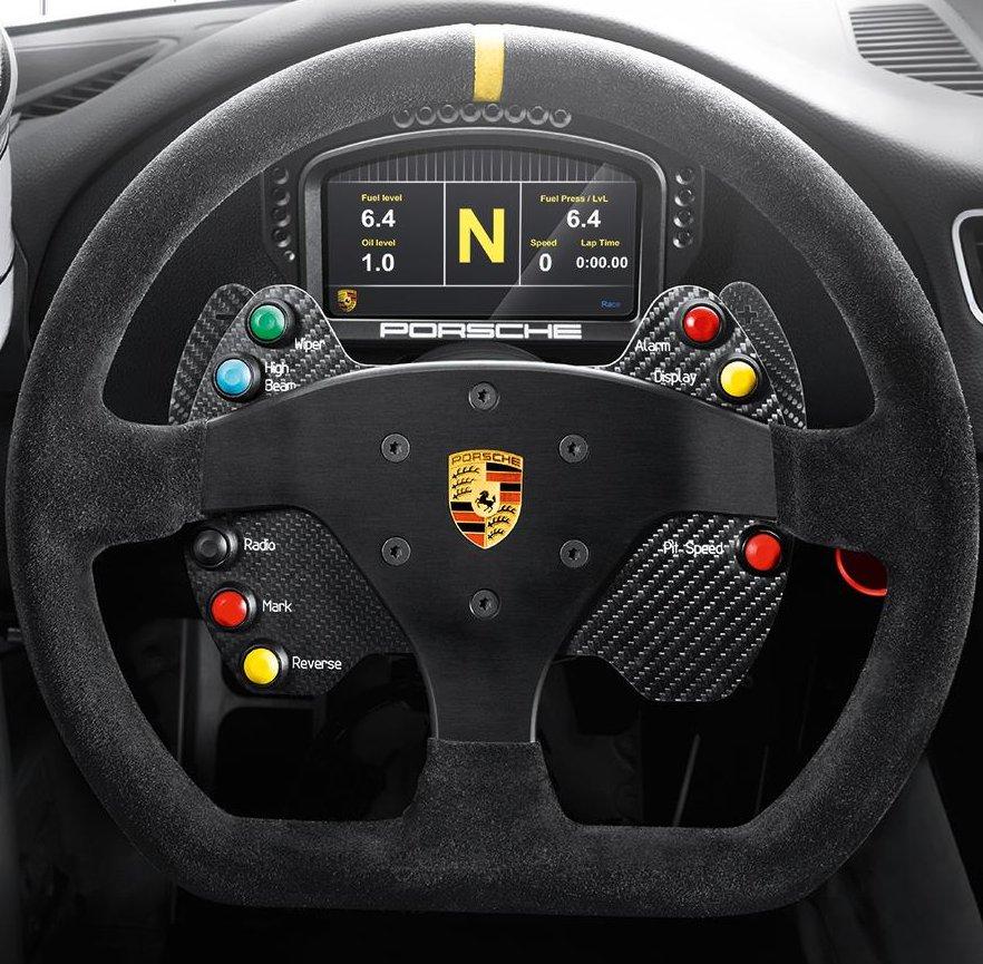 Custom Porsche GT3 CUP wheel & plate - Thrustmaster