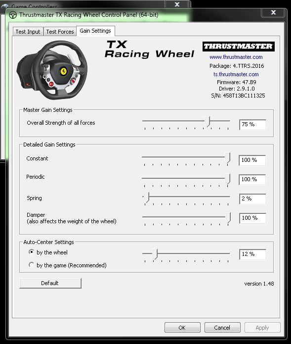 Thrustmaster TX wheel - Thrustmaster - InsideSimRacing Forums