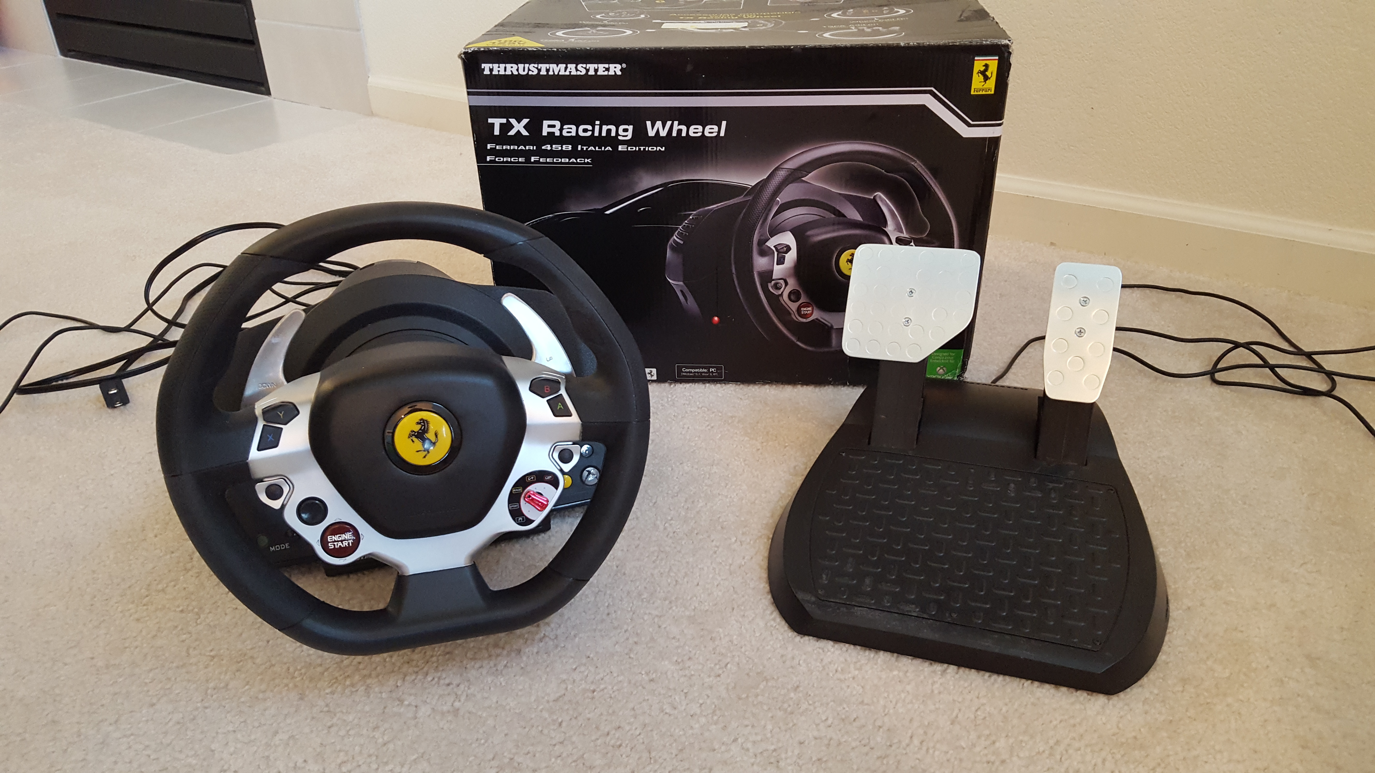 thrustmaster tx racing wheel 265 free shipping sim gear buy and sell insidesimracing forums. Black Bedroom Furniture Sets. Home Design Ideas