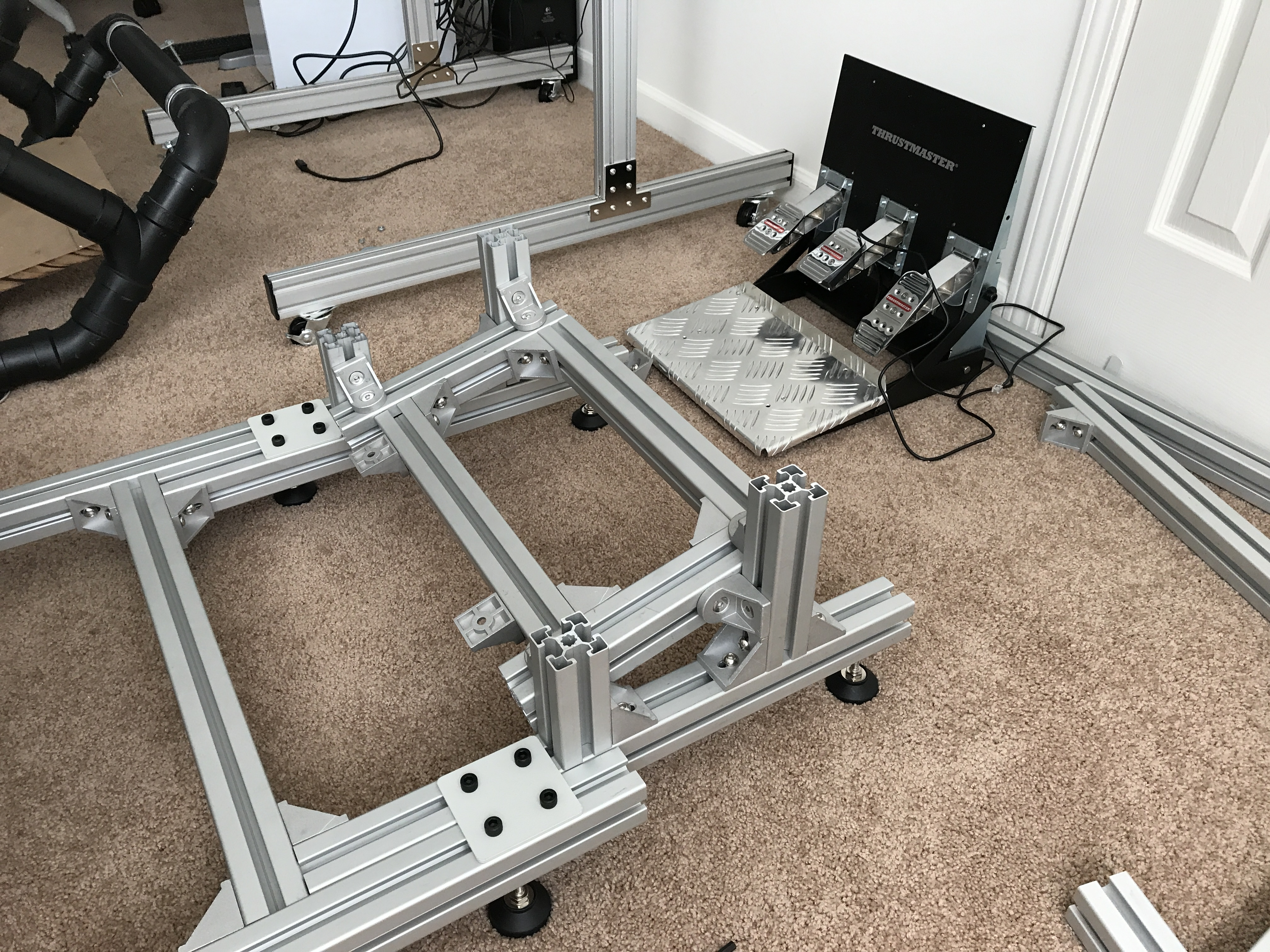 8020 rig build  and question on wheel mounting solution