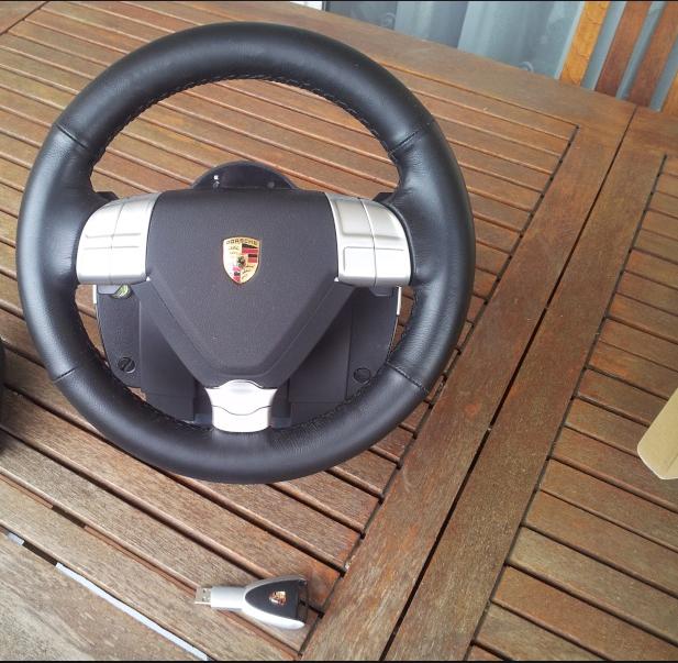 For Sale: Fanatec Porsche 911 Turbo S Wheel and Wireless Dongle USA