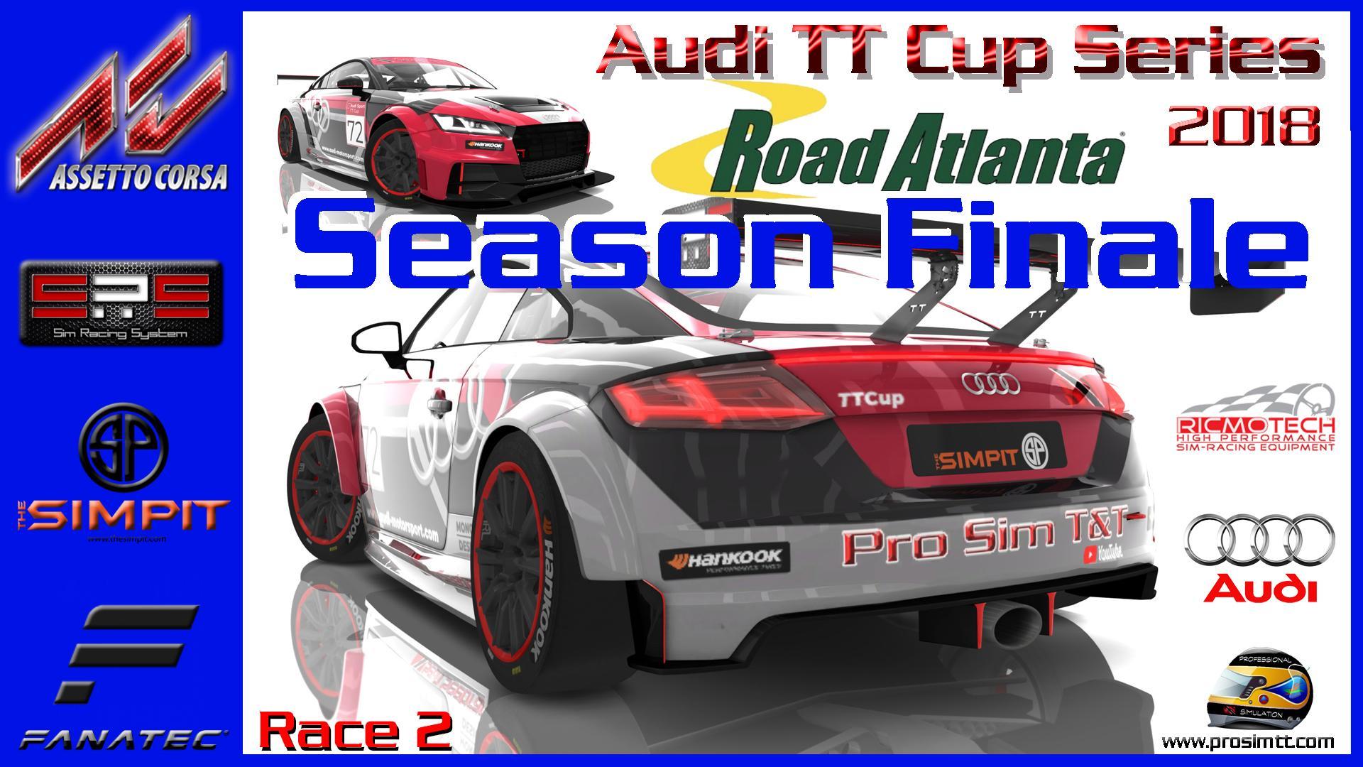 ✅The Simpit Audi TT Cup Series Finale at Road Atlanta (Week