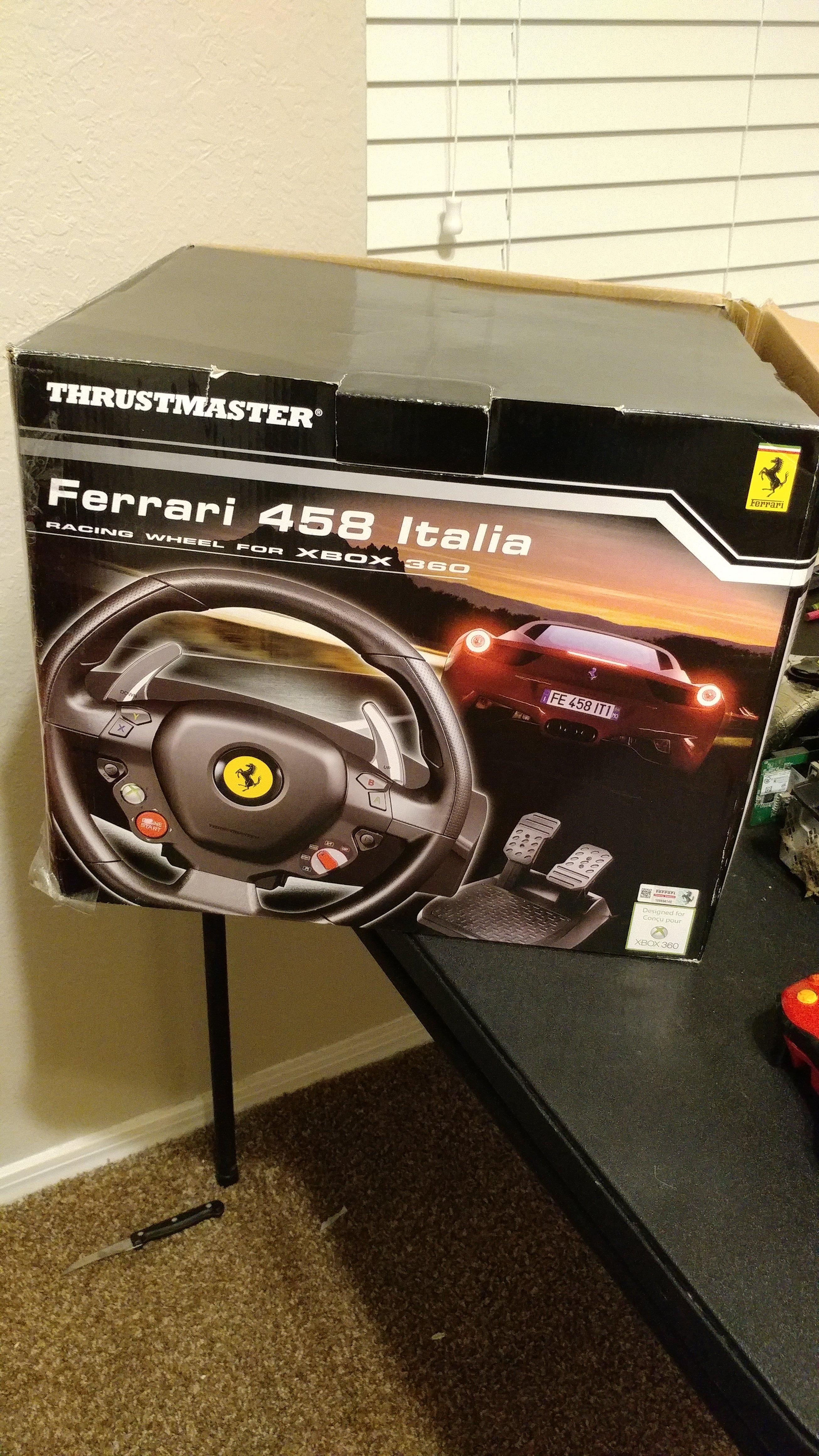 Xbox 360 And Xbox One Compatibility Thrustmaster Ferrari 458 Italia Xbox 360 Xbox Discussion Insidesimracing Forums
