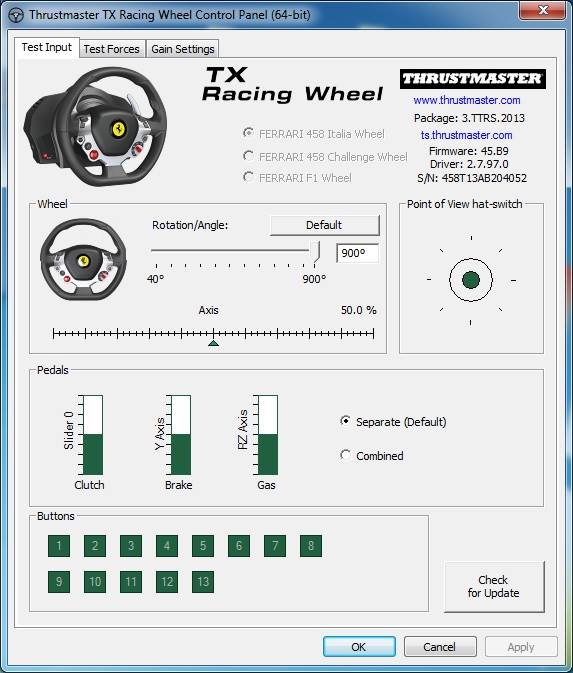 Thrustmaster Tx Racing Wheel Compatible With Pc Inside