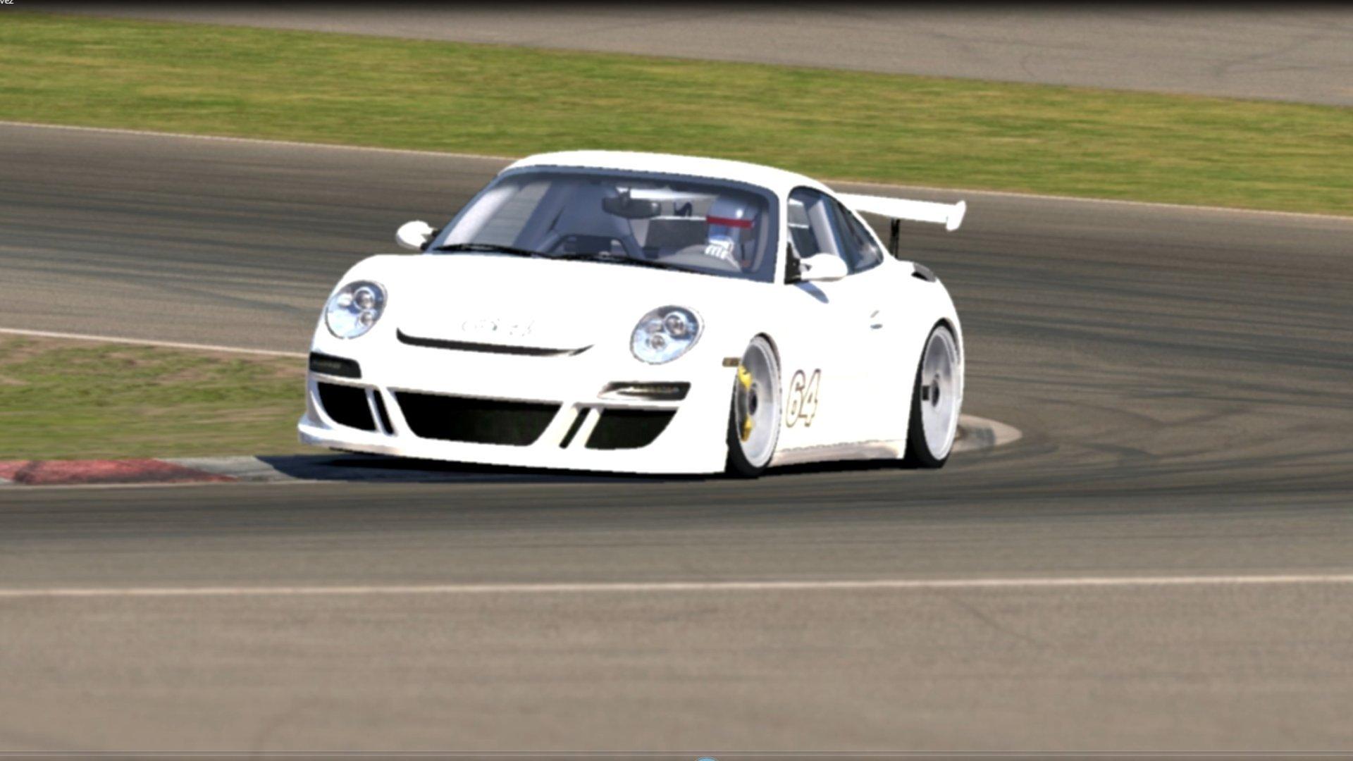 iRacing RUF Test Drive at Daytona and California with Thrustmaster Wheel