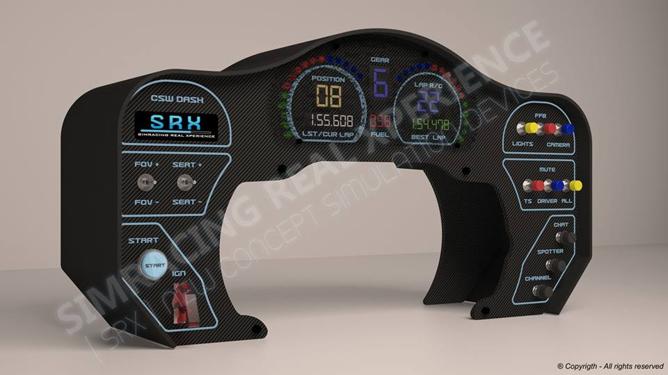 SRX GT Dash Coming for Fanatec CSW - Inside Sim Racing