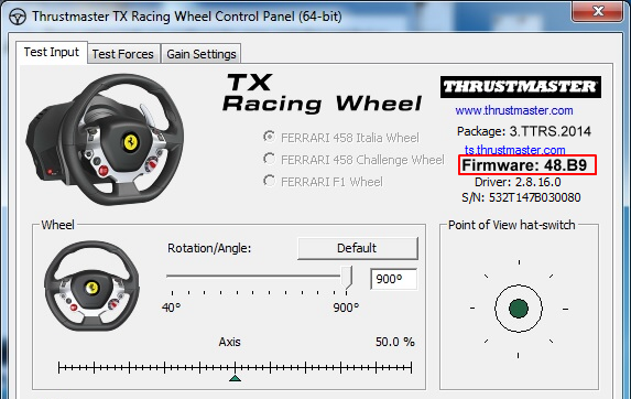 Thrustmaster Released New Firmware and Driver