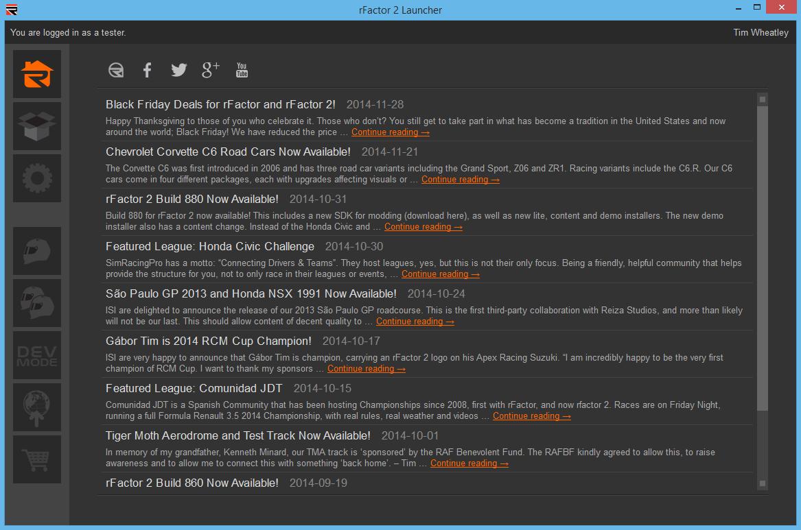 rFactor 2 Build 906 + rFactor Greenlit on Steam - Inside Sim