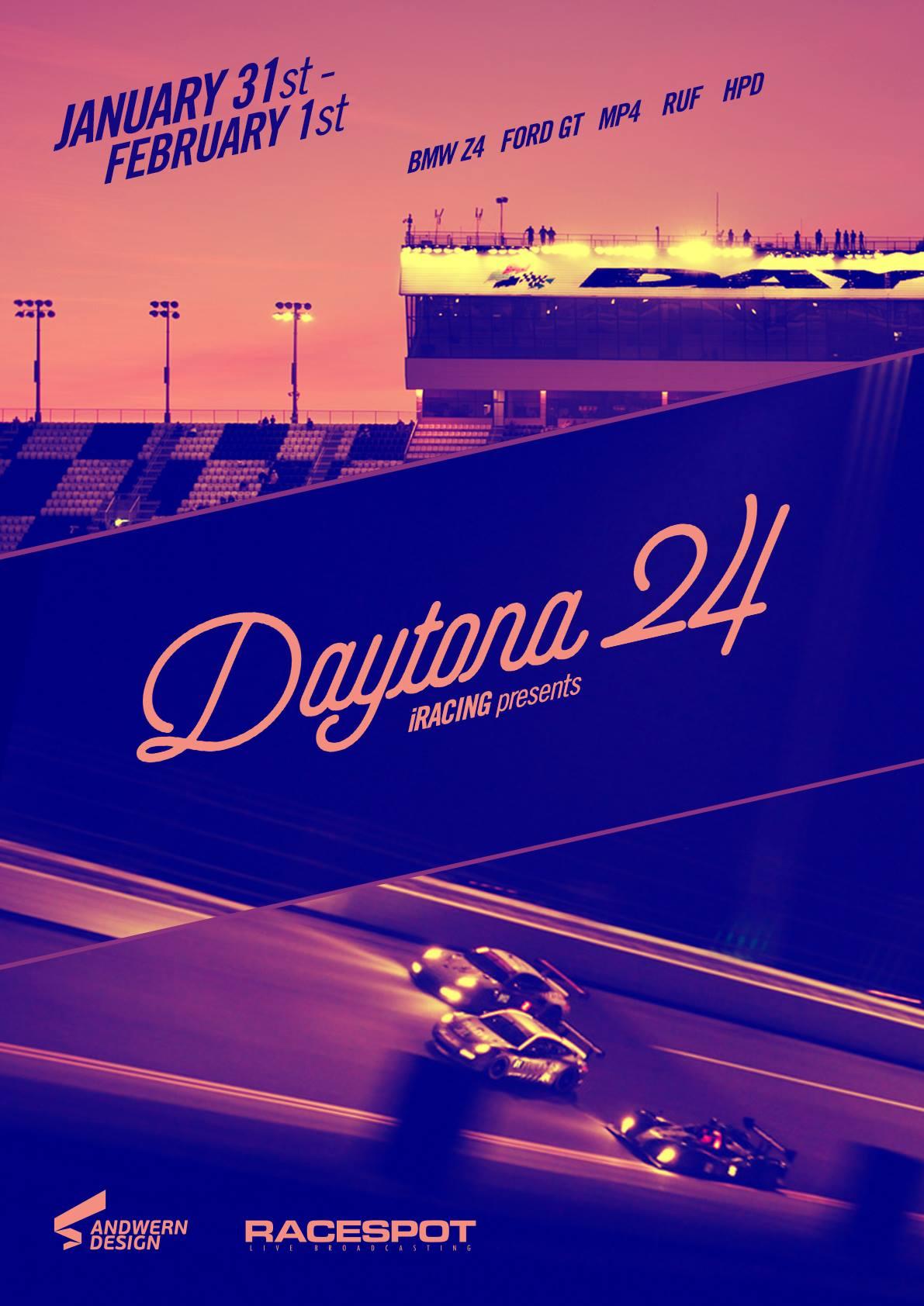 iRacing 24 Hours of Daytona Broadcast Info - Inside Sim Racing