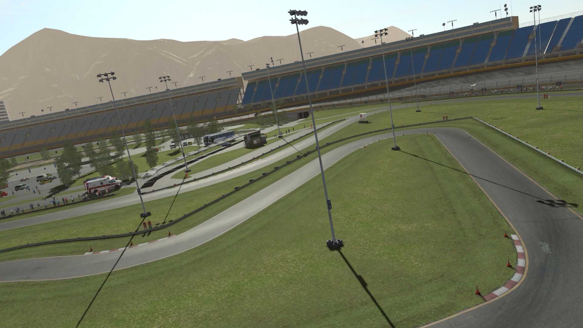 work continues charlotte motor speedways infield road course