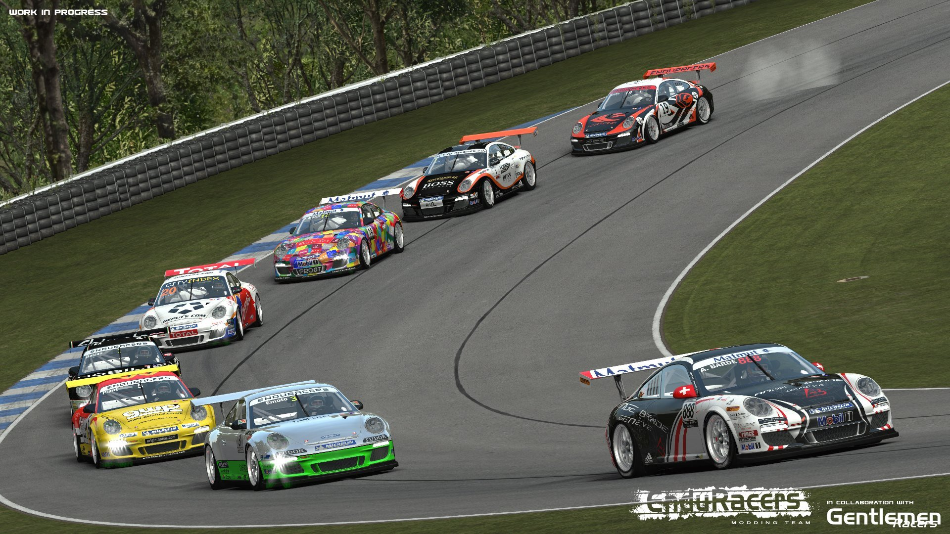 Flat6 Series Trailer on rFactor 2