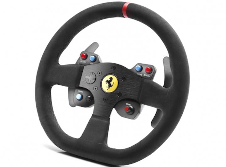 thrustmaster announces tx servo base alcantara ferrari 599xx rim inside sim racing. Black Bedroom Furniture Sets. Home Design Ideas