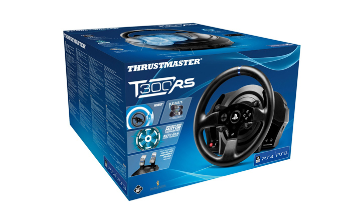 Thrustmaster T300 RS steering wheel
