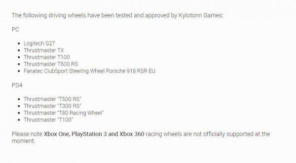 WRC 5 Wheel Support