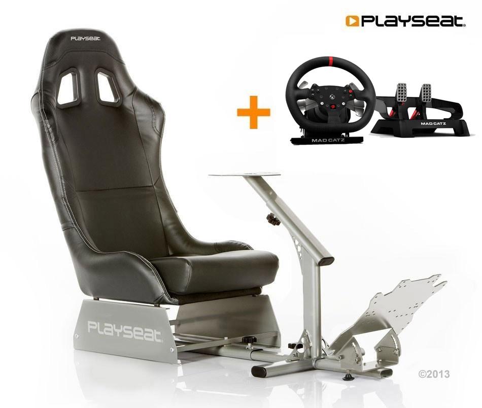 Buy now Mad Catz Pro Racing Force Feedback Wheel seat bundle