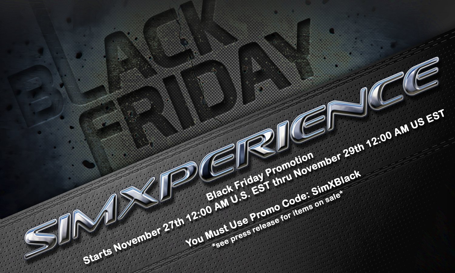 SimXperience Black Friday Promotion