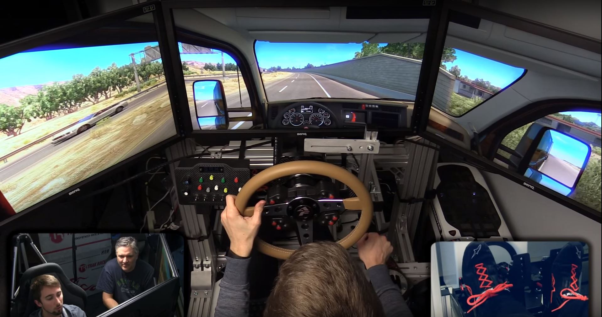 Car Simulator Games >> American Truck Simulator in Stage 4 Motion Sim - Inside Sim Racing