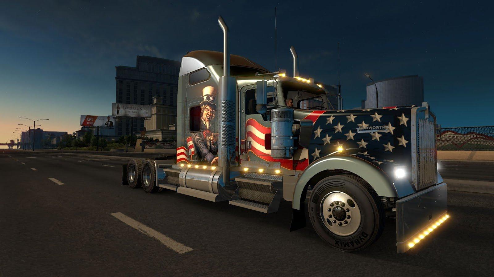 American Truck Simulator Kenworth W900 4