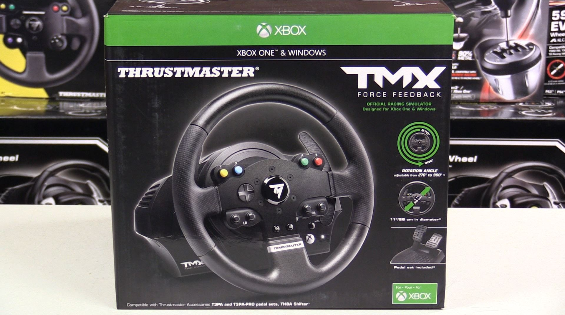 thrustmaster tmx force feedback racing wheel first look. Black Bedroom Furniture Sets. Home Design Ideas