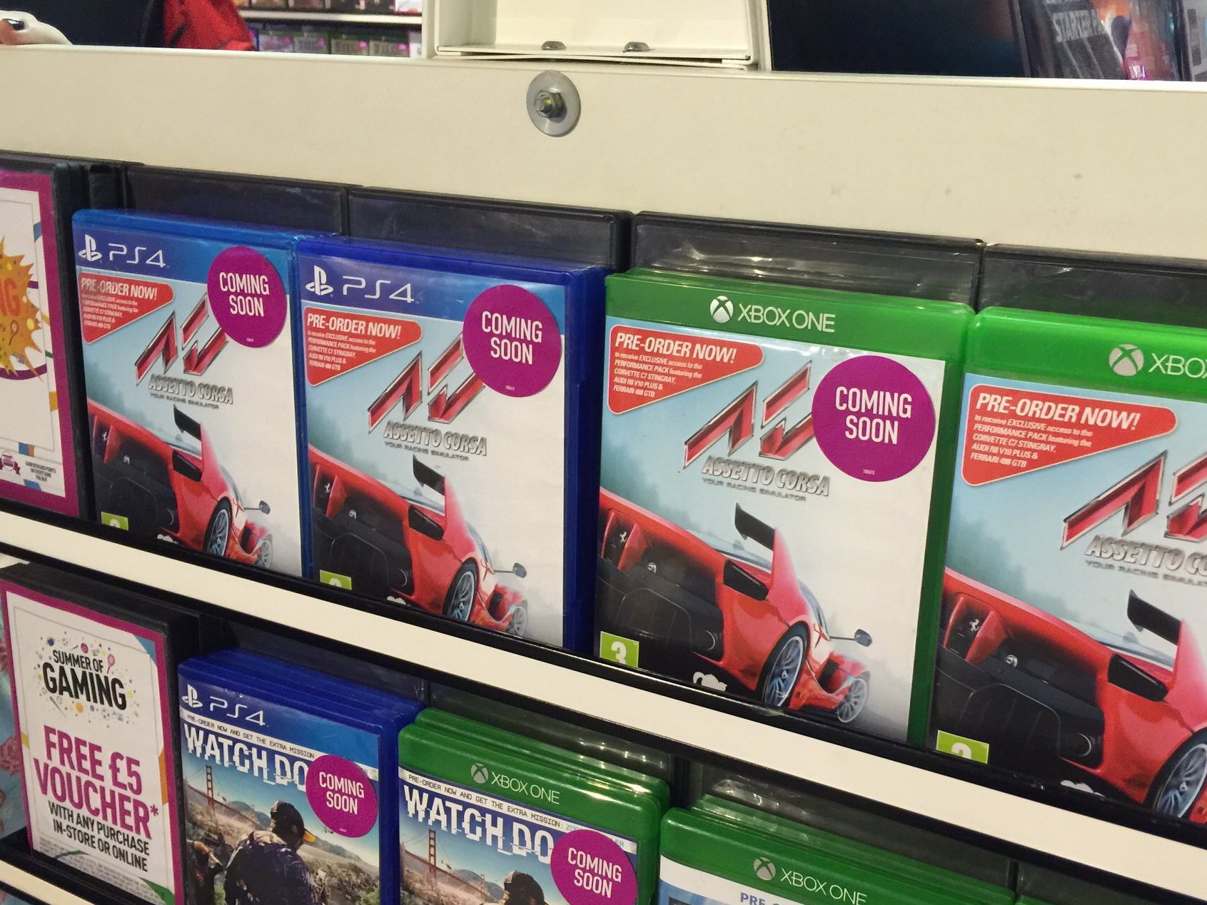 assetto corsa ps4 xbox one retail