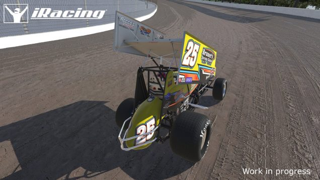 iRacing Dirt #25 Sprint Car