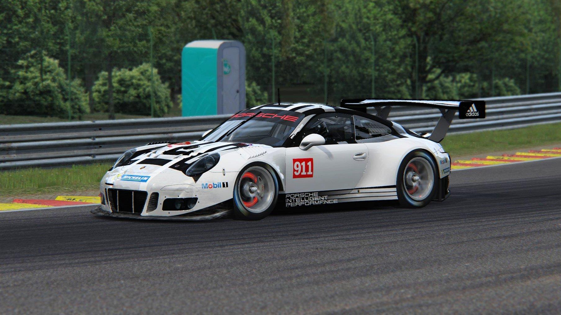 assetto corsa porsche 911 gt3 r 2016 test drive at spa inside sim racing. Black Bedroom Furniture Sets. Home Design Ideas