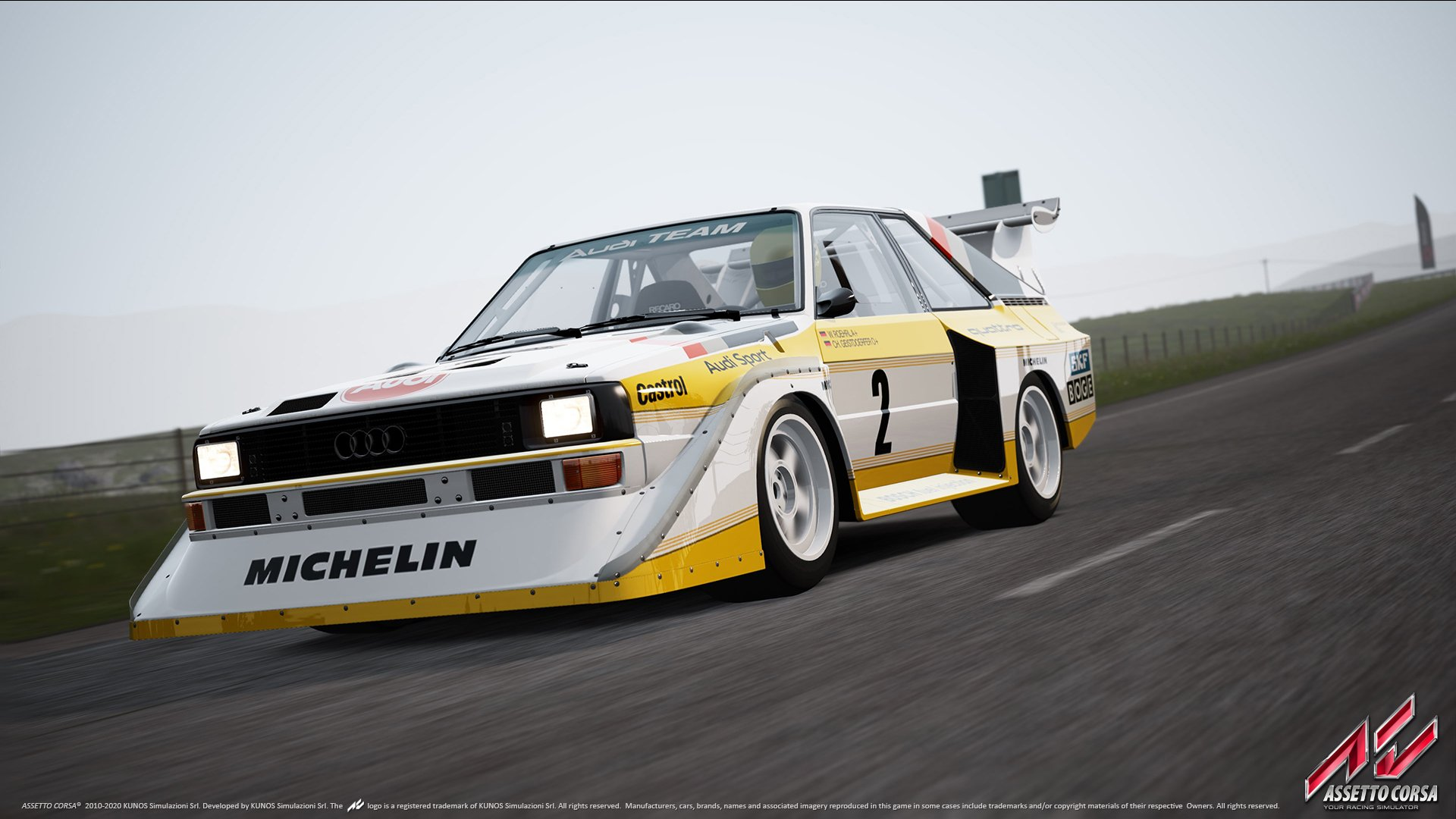 assetto corsa highlands audi quattro s1 out on. Black Bedroom Furniture Sets. Home Design Ideas
