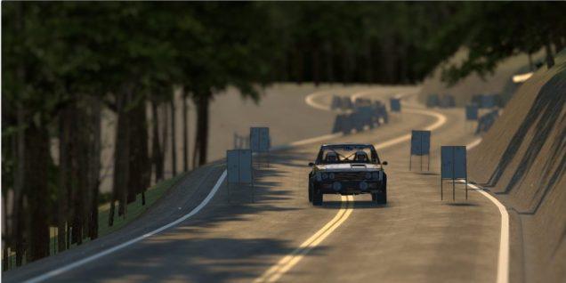 gRally dusk road