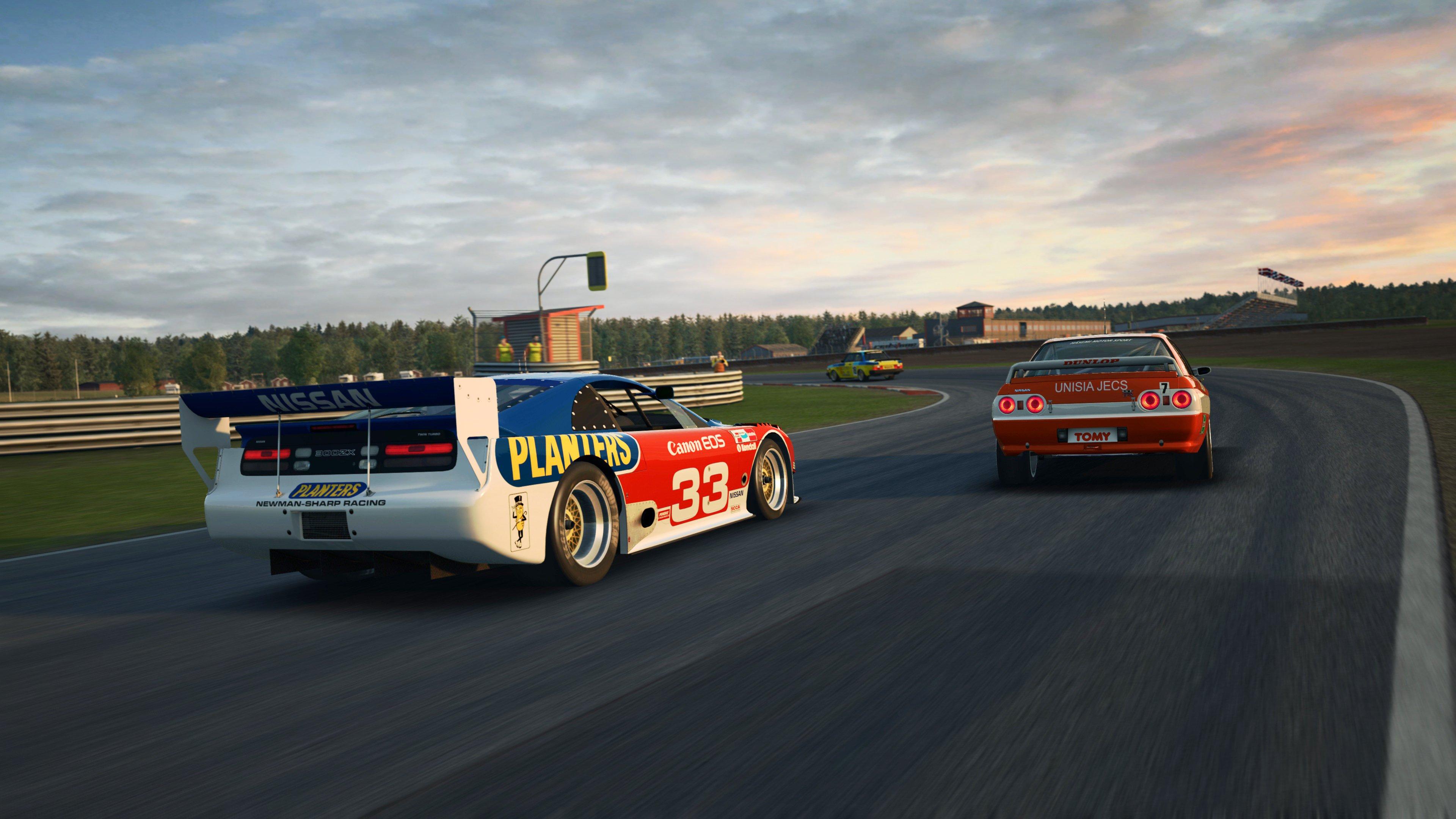 RaceRoom Anderstorp Nissans racing back shot