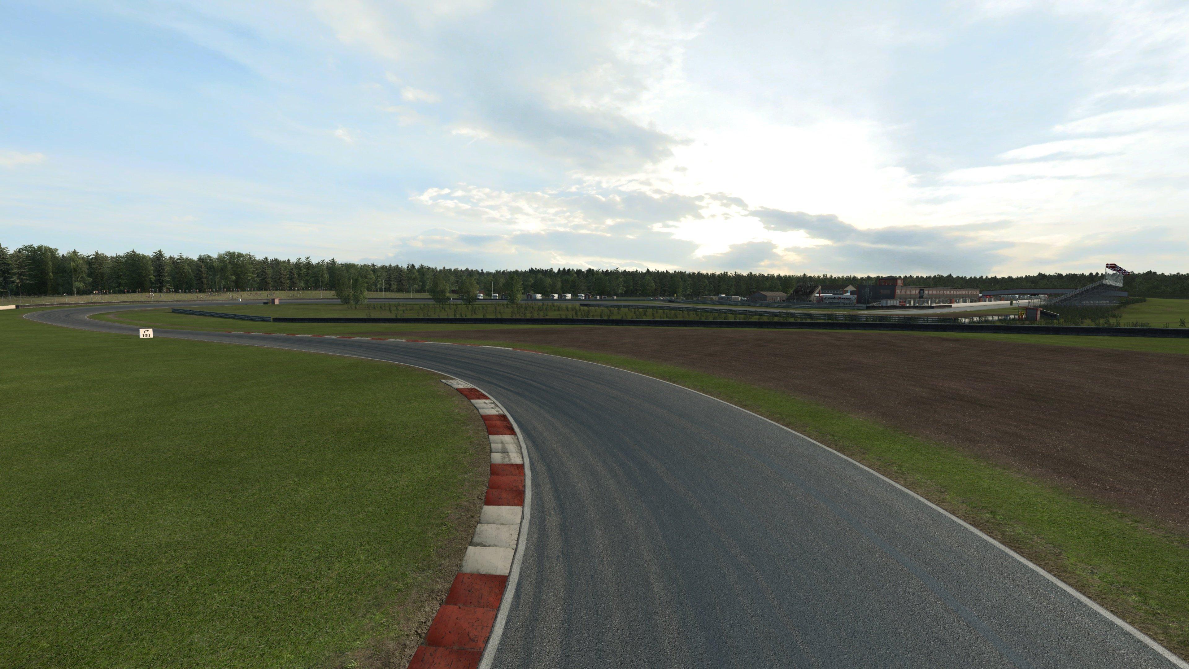 RaceRoom Anderstorp left turn drone shot