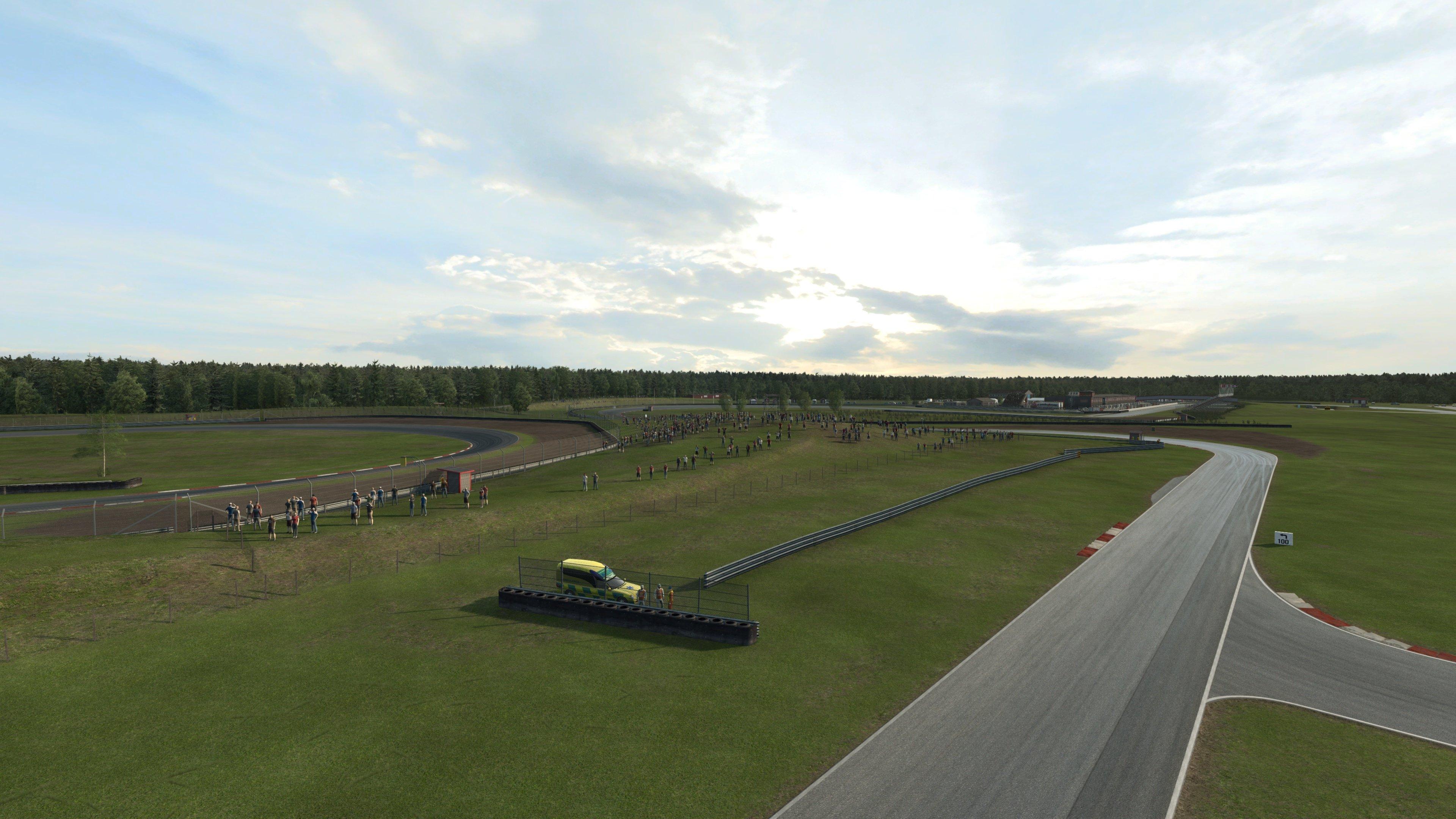 RaceRoom Anderstorp back straight drone shot