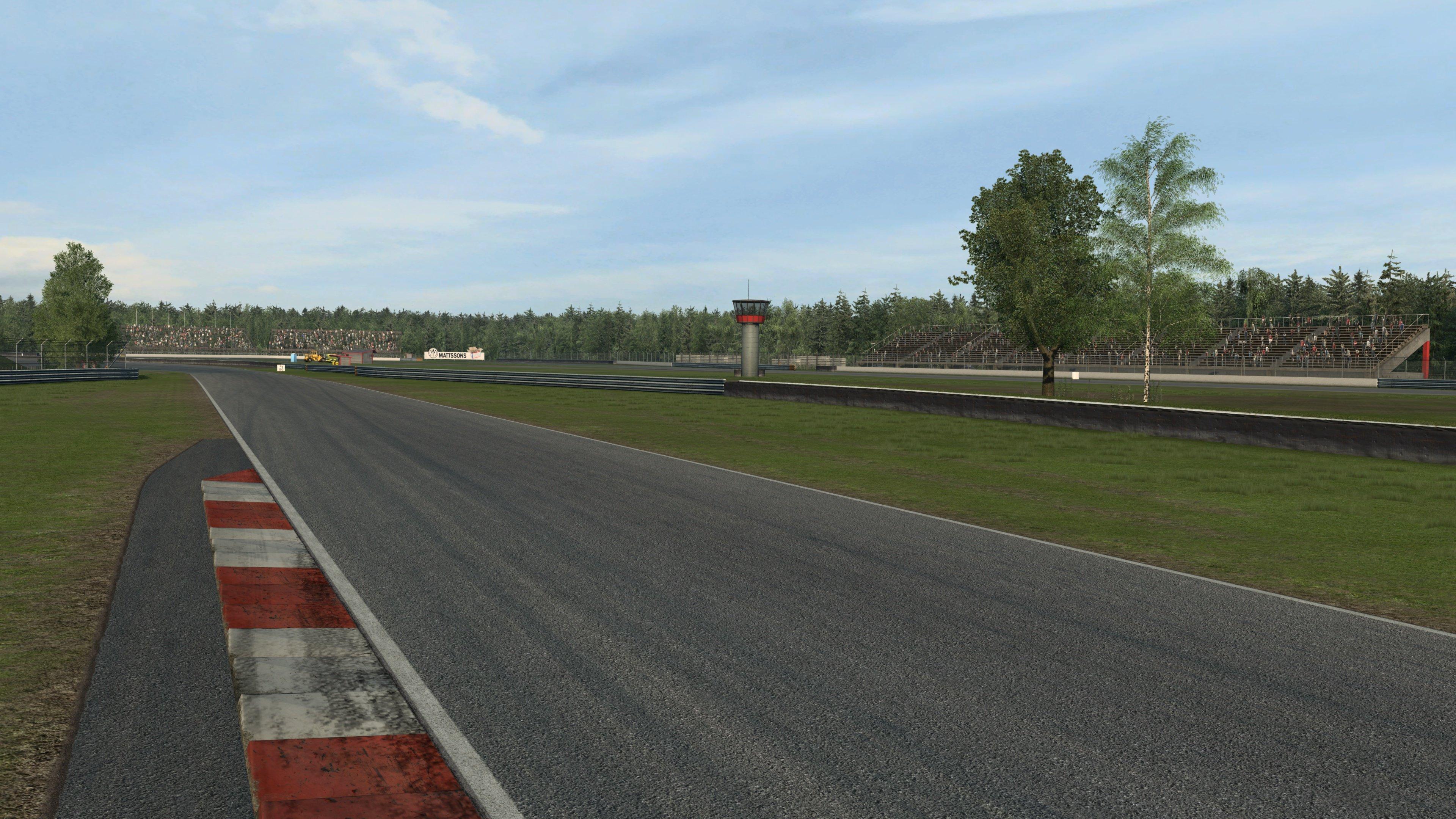 RaceRoom Anderstorp back straight standing shot