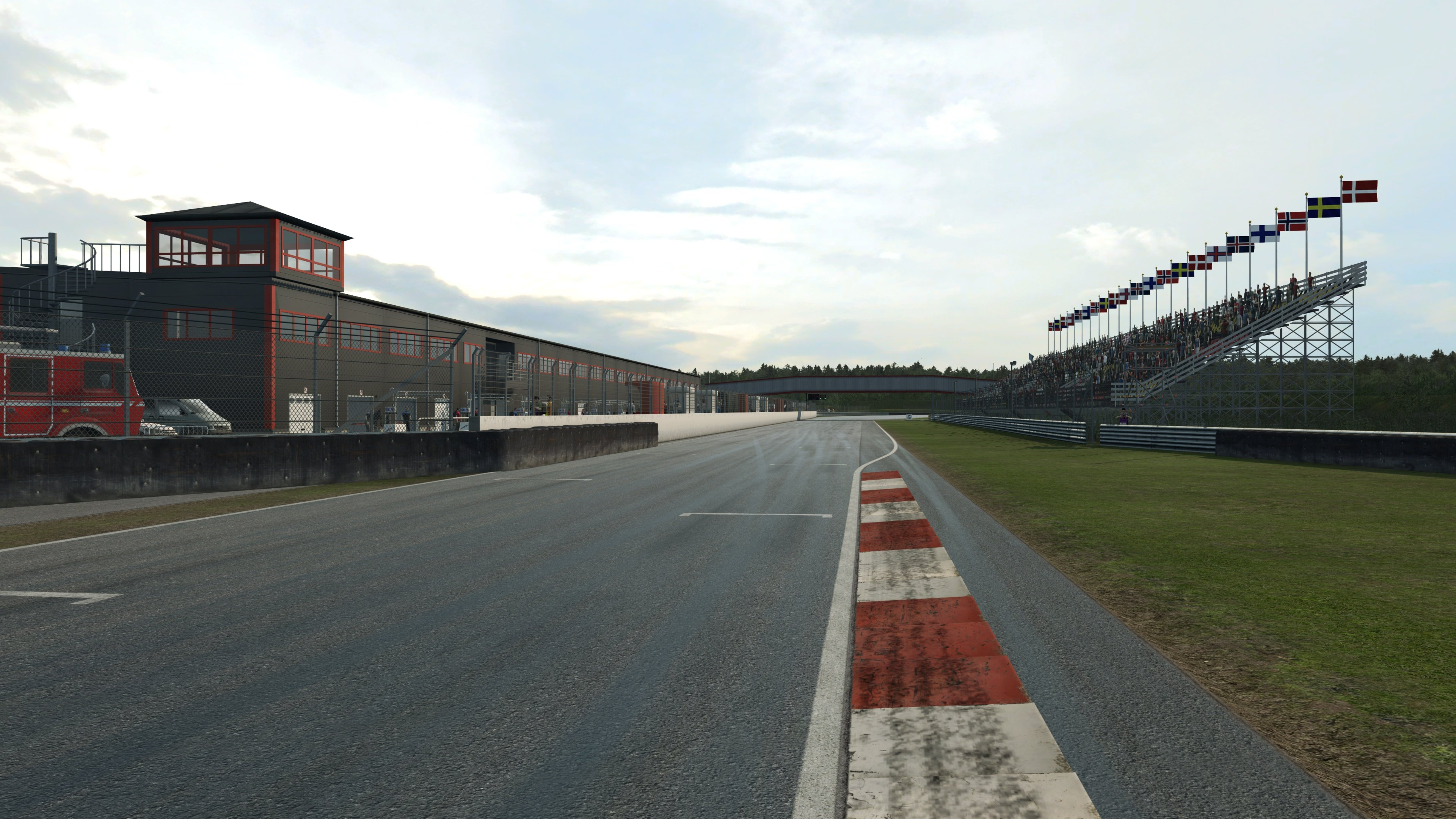 RaceRoom Anderstorp main straight standing shot