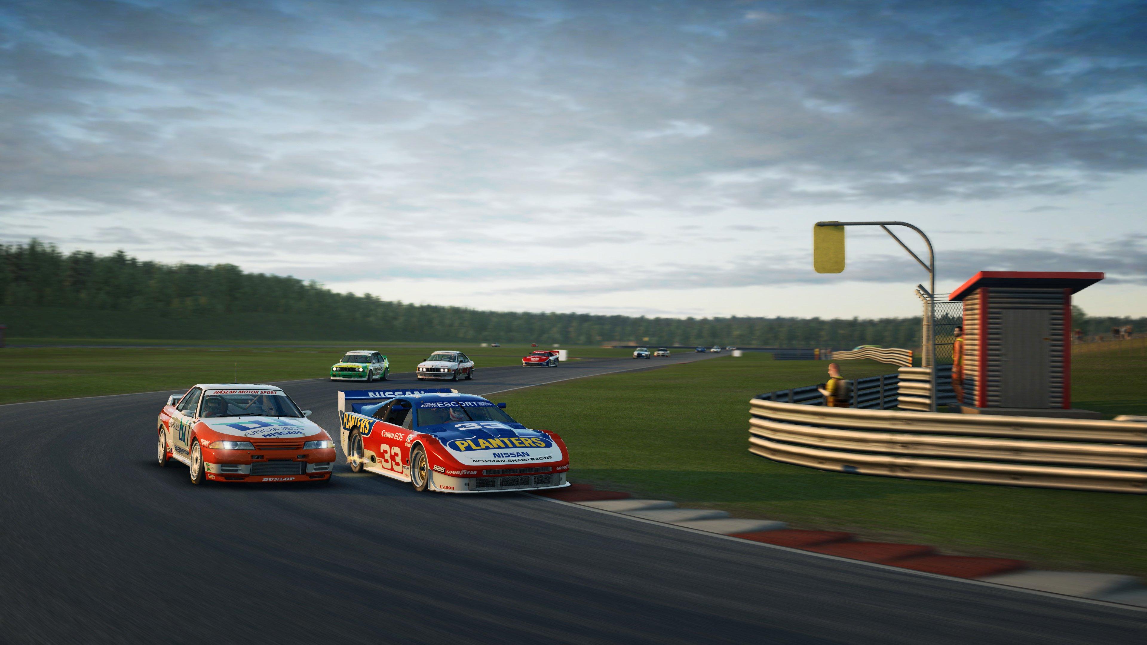 RaceRoom Anderstorp Nissans close in turn