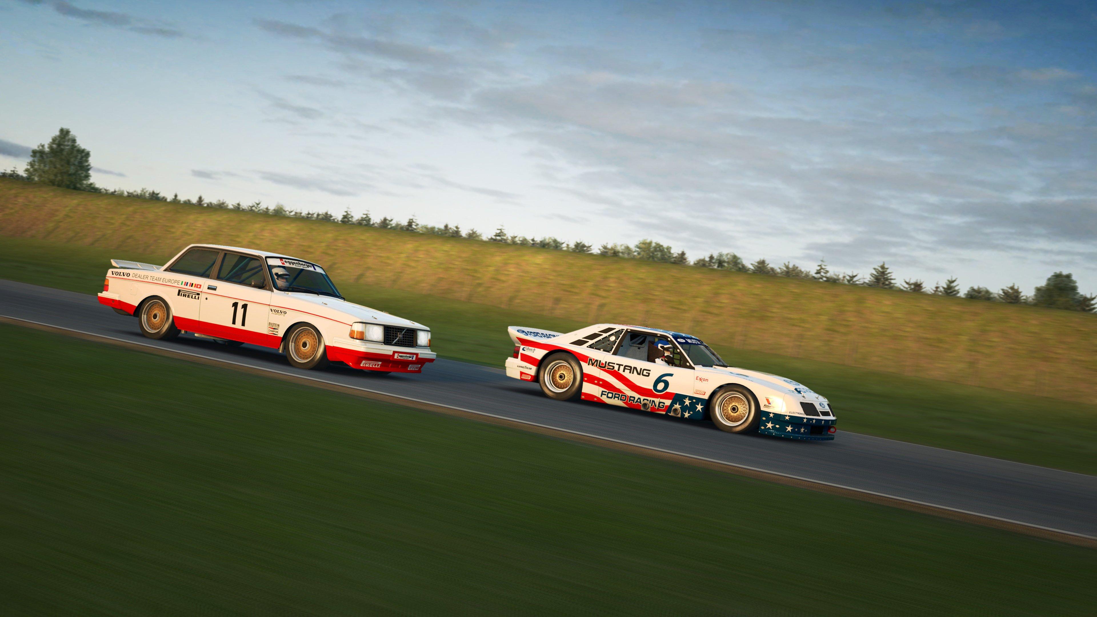 RaceRoom Anderstorp BMW and Ford side shot