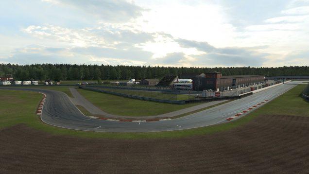 RaceRoom Anderstorp first turn drone shot
