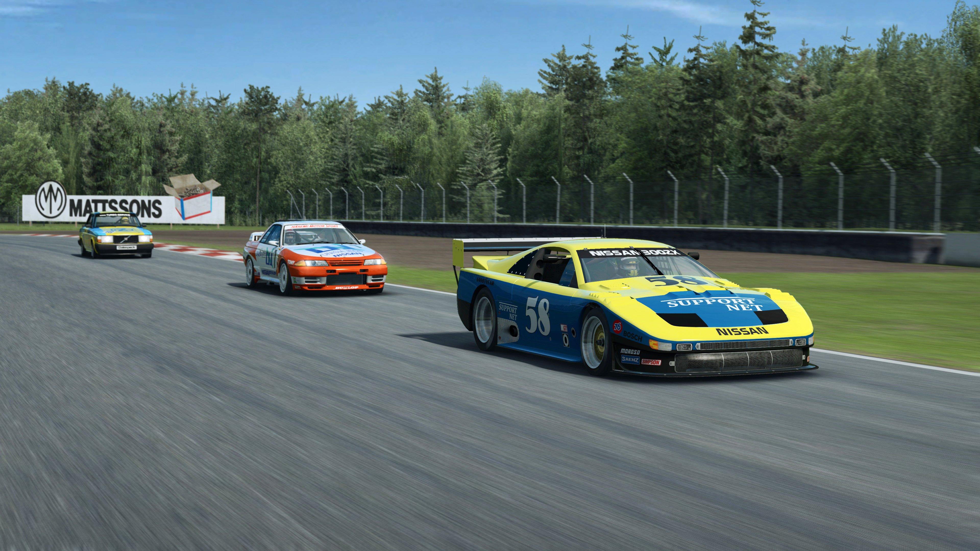 RaceRoom Nissans and Volvo racing