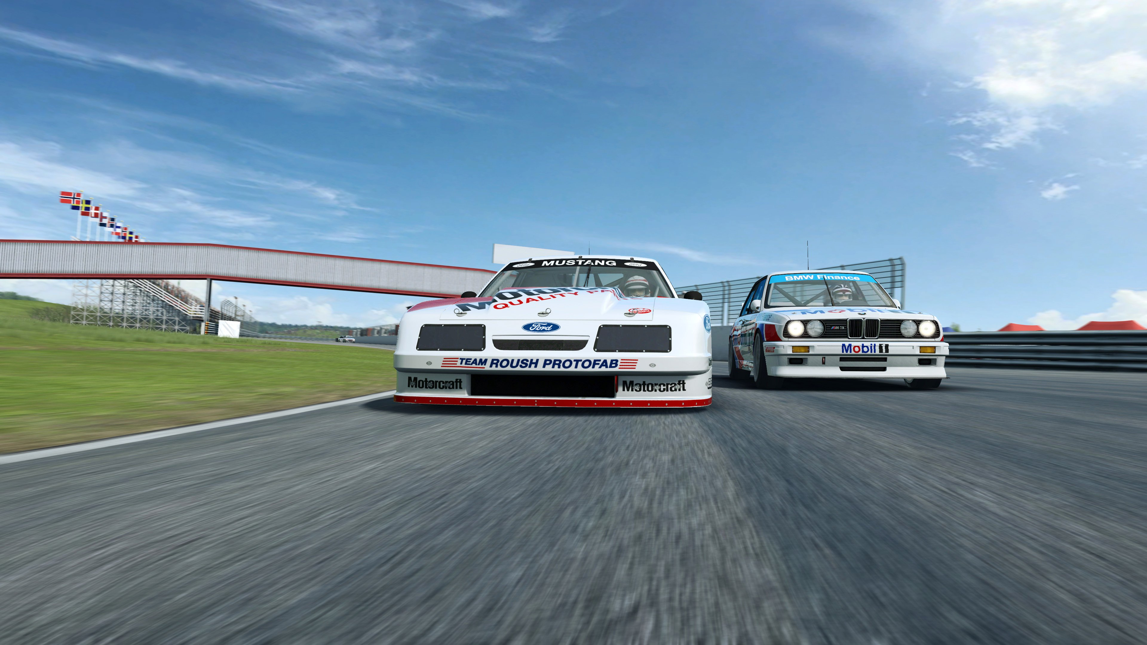 RaceRoom Ford and BMW close up front
