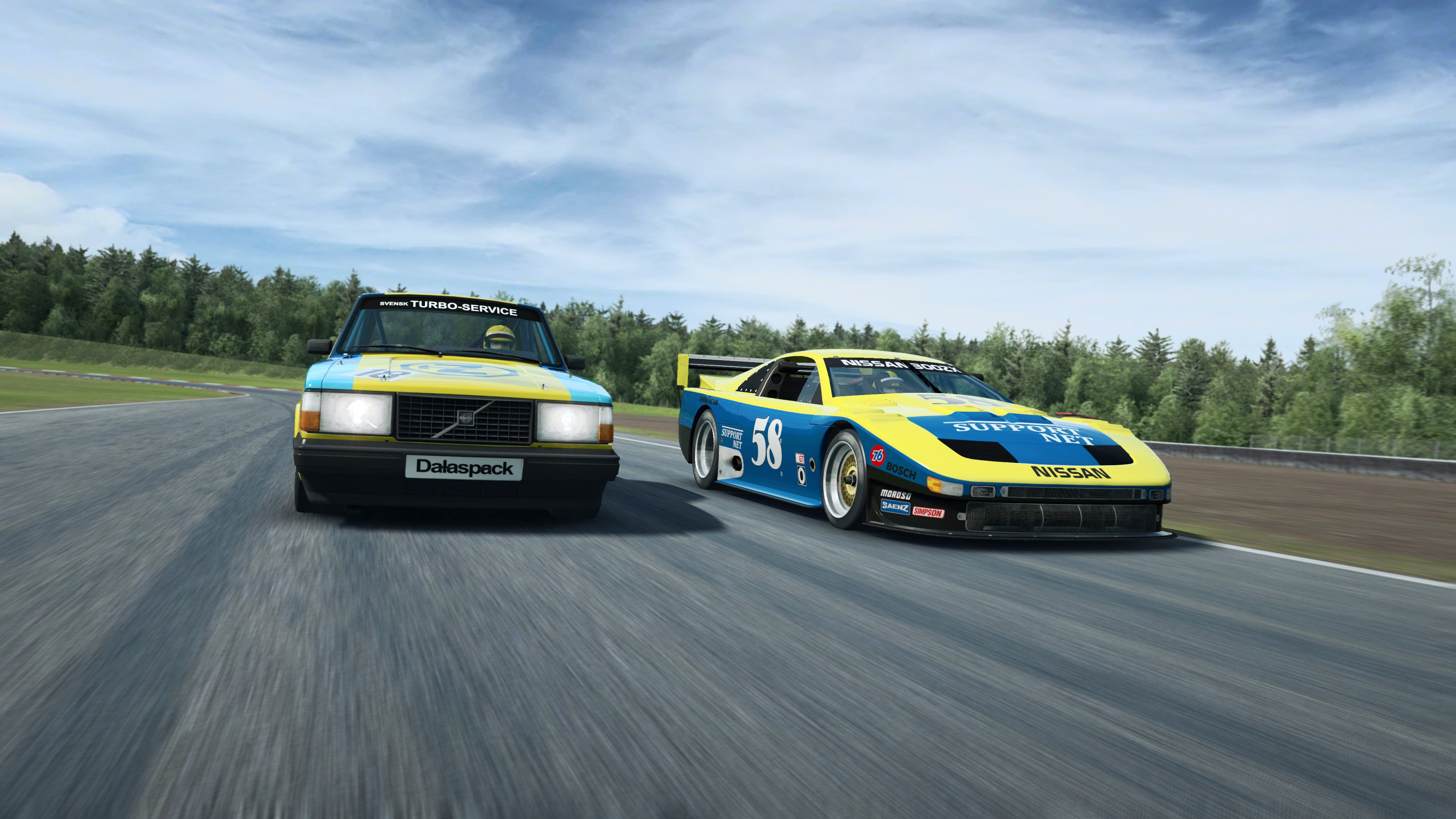 RaceRoom Volvo and Nissan close up front