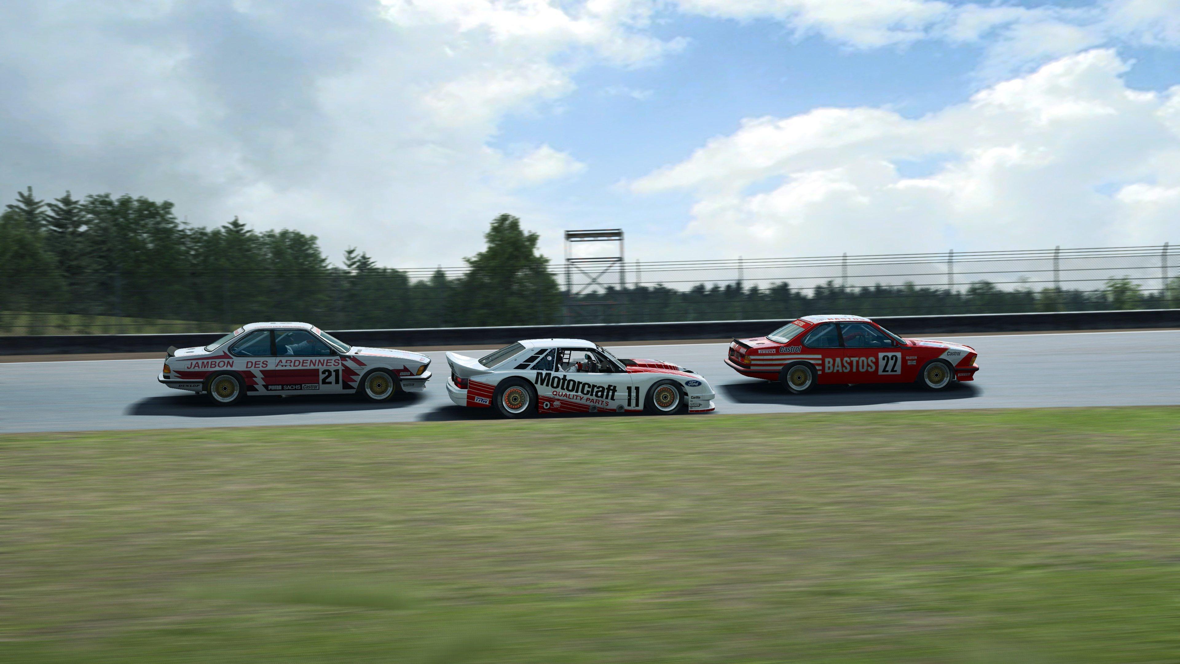 RaceRoom BMW and Ford side shot