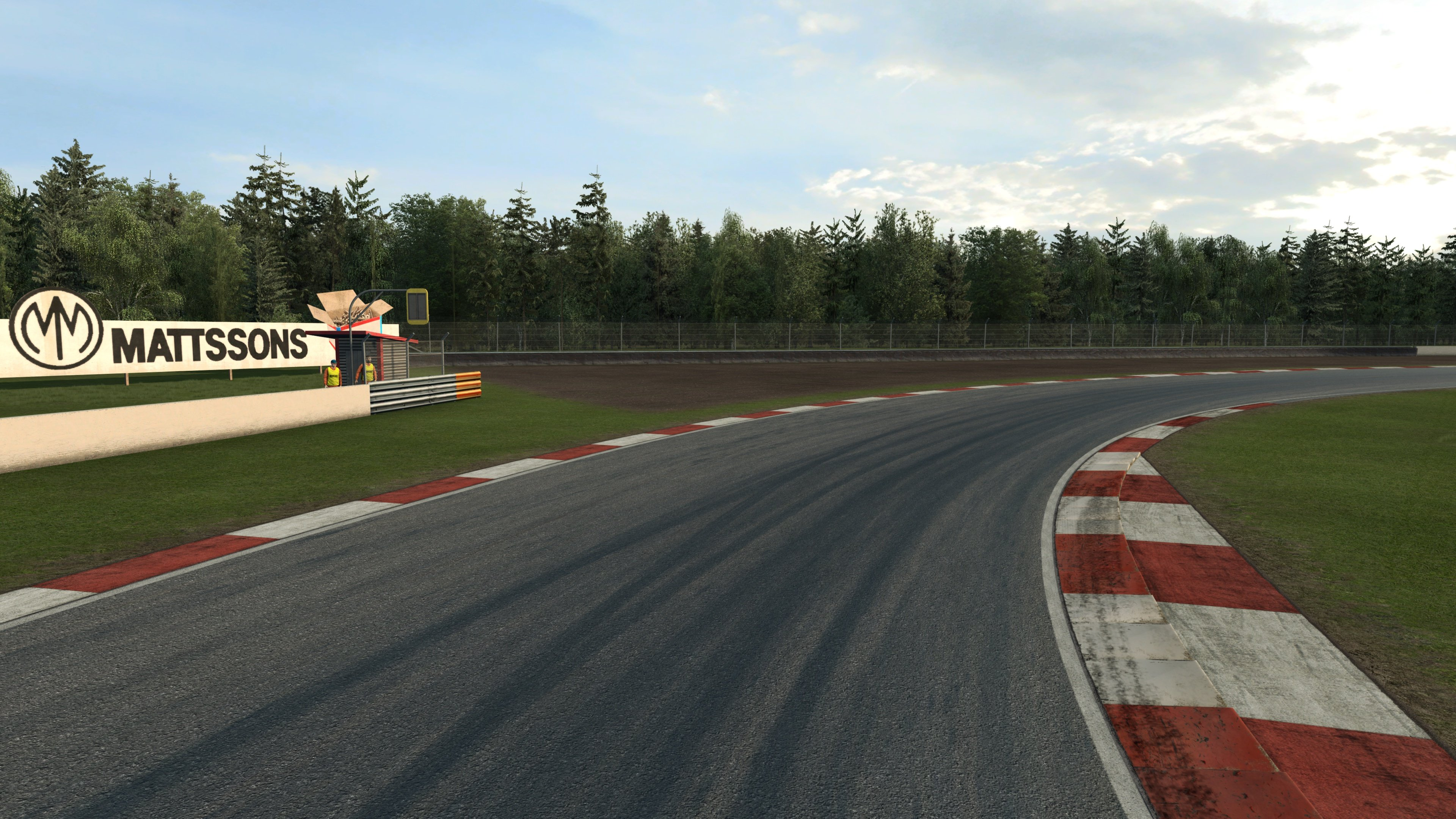 RaceRoom Anderstorp right turn on track standing shot