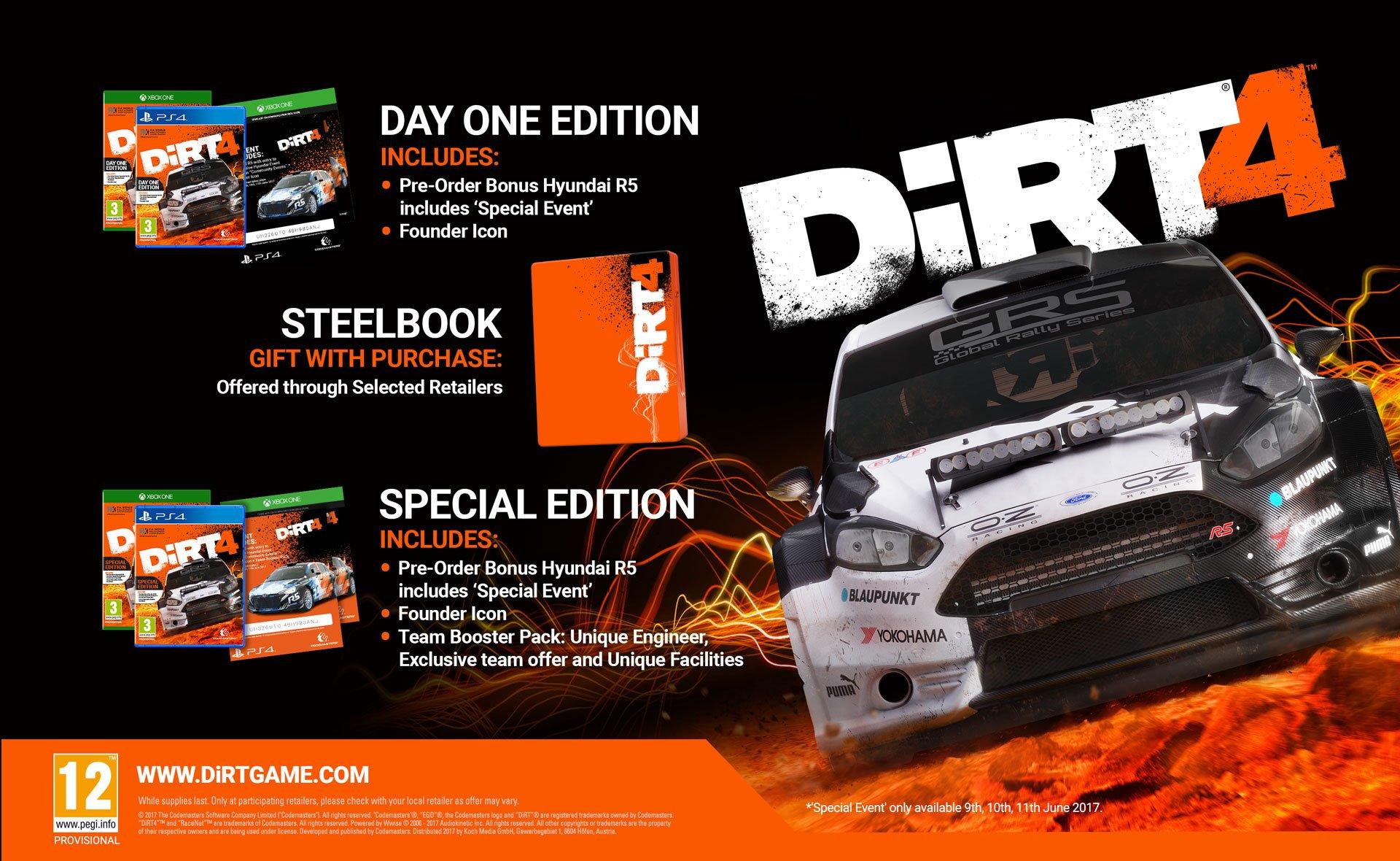 DiRT 4 editions