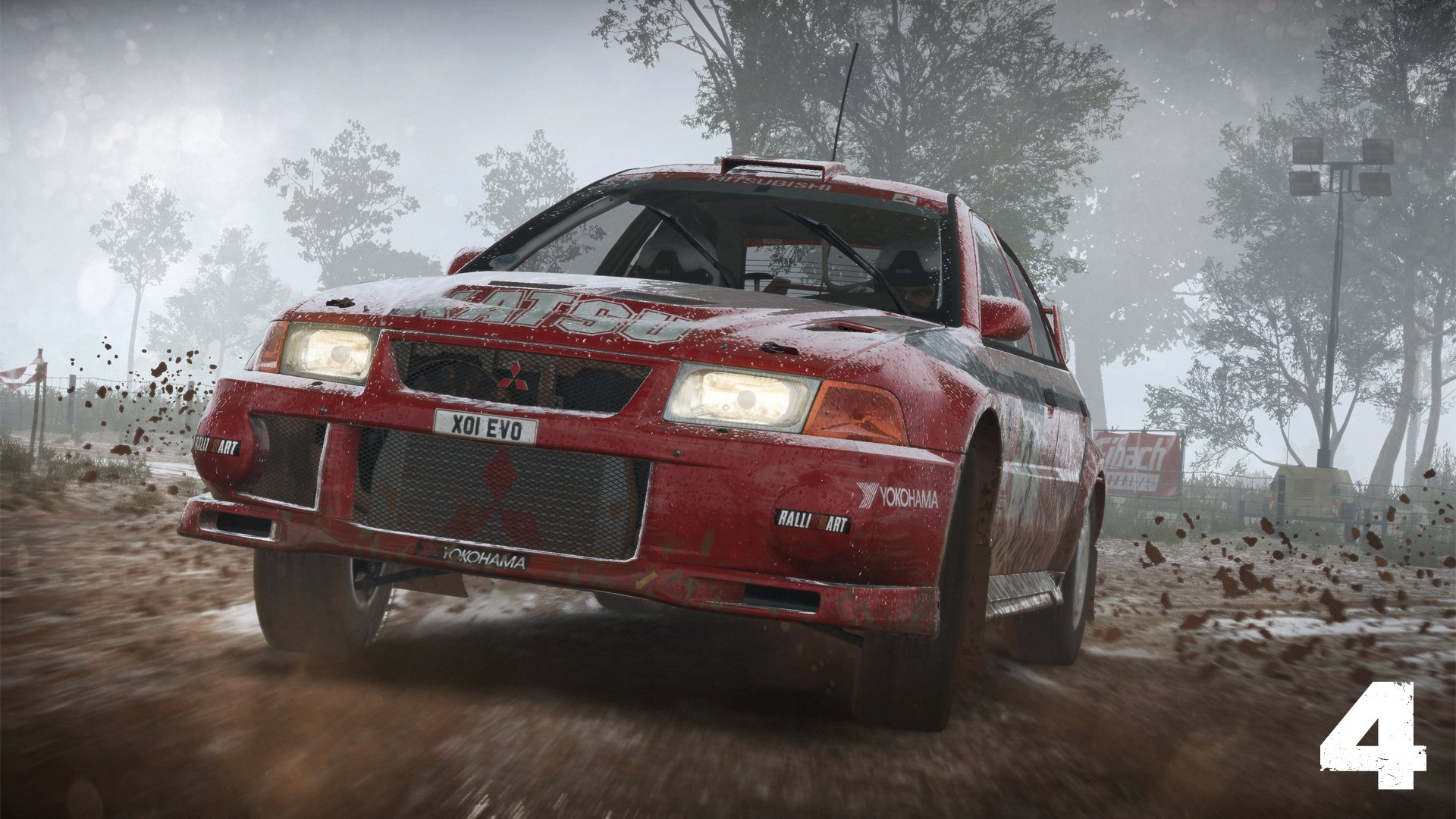 DiRT 4 red Evo, bad weather