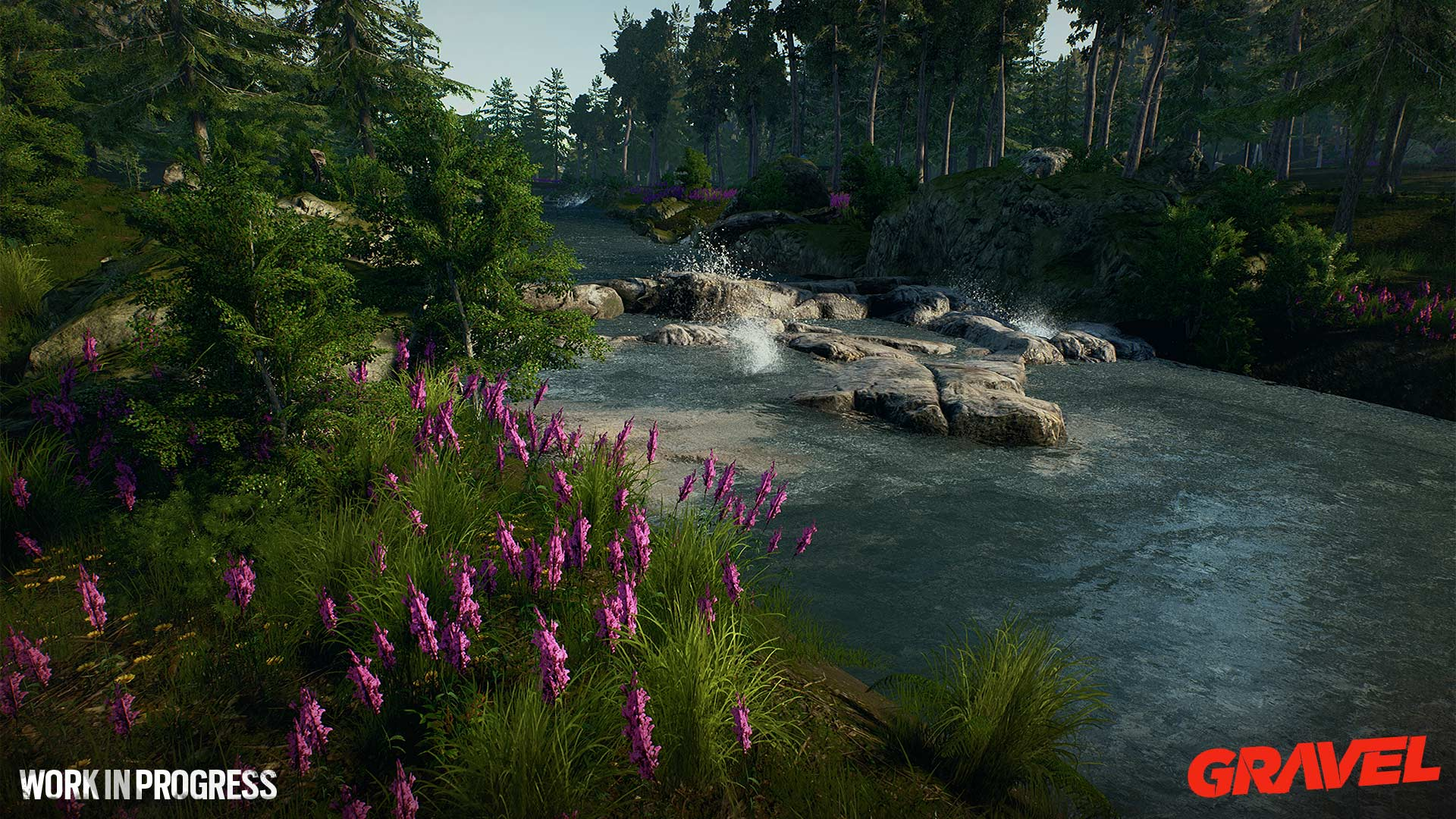 Gravel wip river